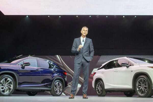 Jeff Bracken, Group Vice President and General Manager Lexus Division unveils the all new Lexus RX at the 2015  New York Auto Show, Wednesday, April 1, 2015. The RX's thebest selling model in the brand's 26 year history. The RX Hybrid is left and Sport model is (R).  Photo: Joe Polimeni/Lexus