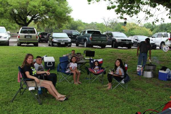 Residents come in droves for Easter camping at Brackenridge Park.
