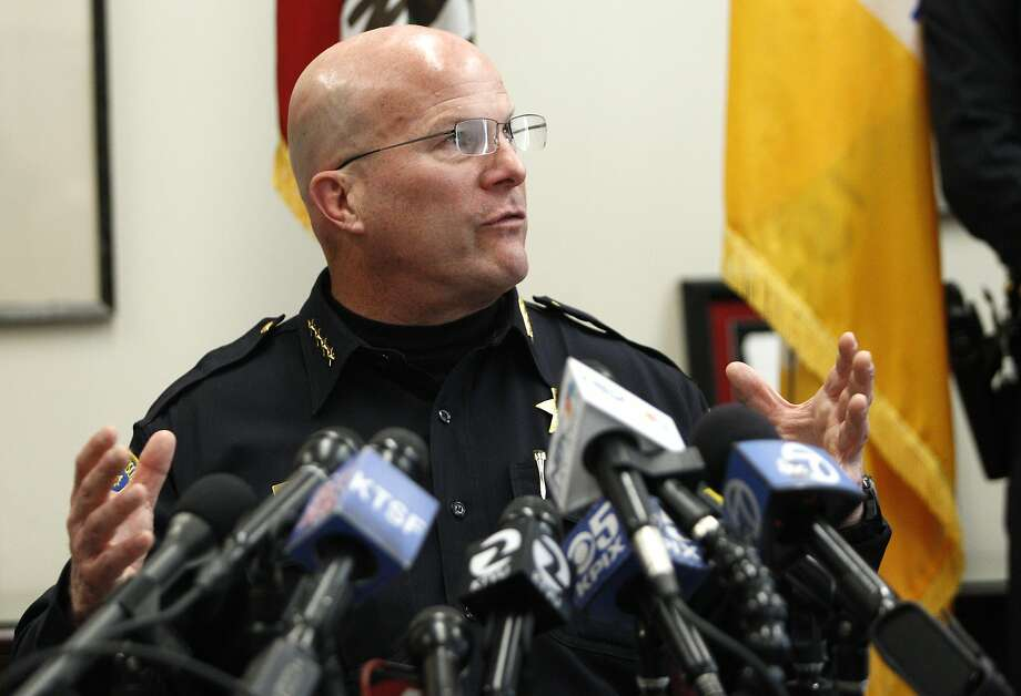 Then-S.F. Police Chief Greg Suhr during a news conference speaks about an audit of the crime lab's DNA unit, which has come under fire for faking results, as well as other police misconduct, at the Hall of Justice, Friday, April 3, 2015, in San Francisco, Calif. Photo: Santiago Mejia, The Chronicle