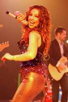 3/30/13: Mexican superstar Thalia performs in concert on the VIVA! Tour, in Houston, Texas.