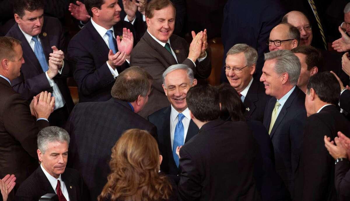 A reader has déjà vu listening to Israeli Prime Minister Benjamin Netanyahu,shown on Capitol Hill on March 3.