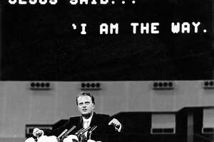 "Nov. 19, 1965:   Billy Graham, who described the Astrodome as ""one of the wonders of the world"" (which Judge Roy Hofheinz amended to ""Eighth Wonder of the World""), begins a crusade that draws 376,419 to the Dome."