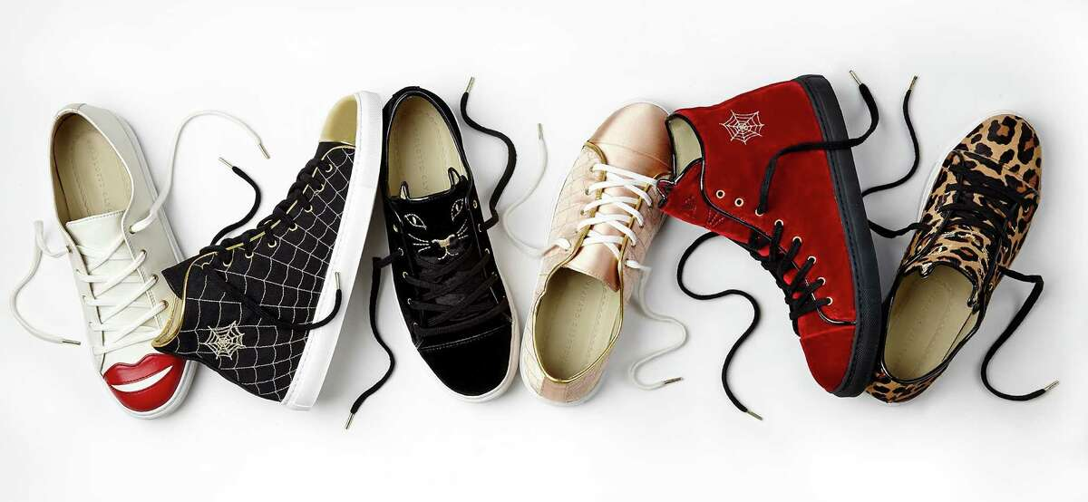 Charlotte Olympia's first-ever capsule collection of sneakers launches April 13 exclusively at Charlotte Olympia stores and www.charlotteolympia.com