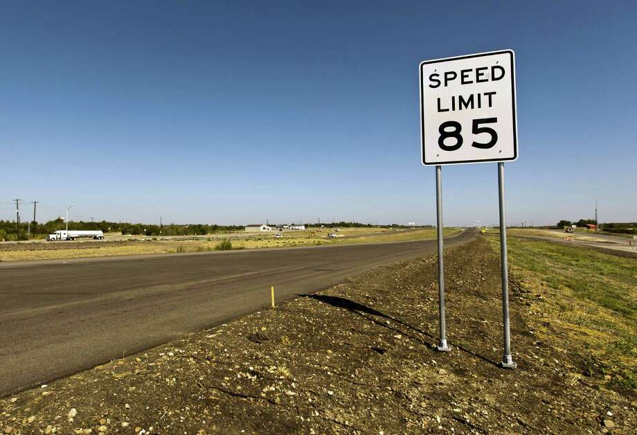 FILE - This Sept. 6, 2012 file photo shows part of a 41-mile stretch of Highway 130 where the posted speed limit is 85 mph, in Austin, Texas. Many tractor-trailers on the nation's roads are driven faster than the 75 mph their tires are designed to handle, a practice that has been linked to wrecks and blowouts but has largely escaped the attention of highway officials. (AP Photo/Statesman.com, Ricardo B. Brazziell)  AUSTIN CHRONICLE OUT, COMMUNITY IMPACT OUT; INTERNET AND TV MUST CREDIT PHOTOGRAPHER AND STATESMAN.COM; MAGS OUT Photo: Ricardo B. Brazziell, MBO / Statesman.com