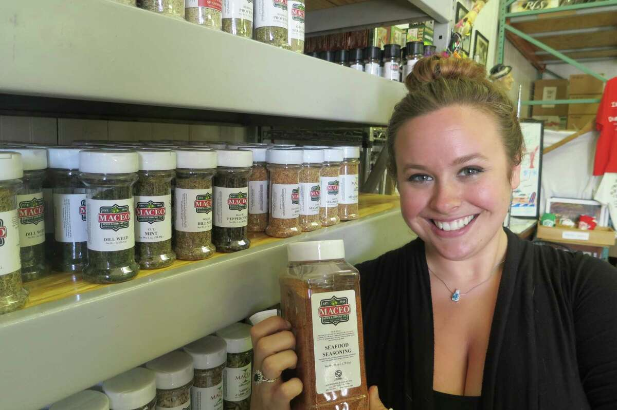 Concetta Maceo, who manages the family business, moved back to Galveston last year to go to nursing school but realized spices were her passion.