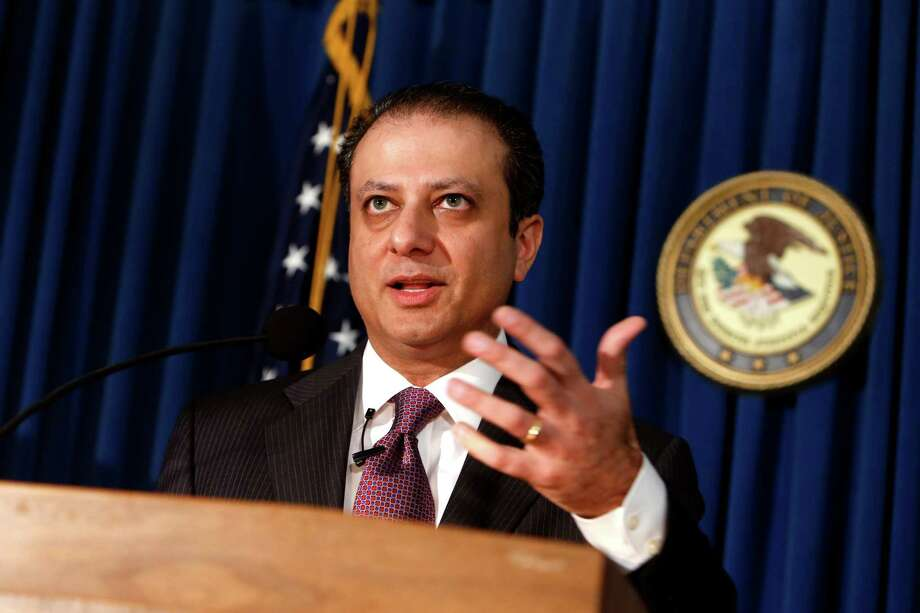 U.S. Attorney Preet Bharara announces charges against more than a dozen Russian diplomats and their spouses living in New York during a news conference Thursday, Dec. 5, 2013 in New York.  The charges stem from the defendants' alleged involvement in a $1.5 million fraud of a U.S. government health program for the poor. (AP Photo/Jason DeCrow) Photo: Jason DeCrow, FRE / FR103966 AP