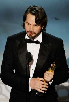 """HOLLYWOOD - MARCH 07:  Screenwriter Mark Boal accepts Best Original Screenplay award for """"The Hurt Locker"""" onstage during the 82nd Annual Academy Awards held at Kodak Theatre on March 7, 2010 in Hollywood, California.  (Photo by Kevin Winter/Getty Images) *** Local Caption *** Mark Boal Photo: Kevin Winter, Getty Images / 2010 Getty Images"""