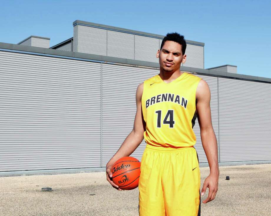 Jordan Murphy of Brennan High School has been chosen for the 2015 Express-News All-Area basketball team and the player of the year. Photo: Cynthia Esparza, For The San Antonio Express-News / San Antonio Express-News / ©2015 San Antonio Express-News