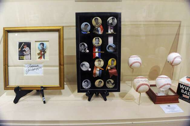 New York Yankee memorabilia is on display at The Albany Institute of History & Art on Wednesday, Feb. 4, 2015 in Albany, N.Y. The newest exhibition at the museum, Triple Play: Baseball at the Albany Institute, is set to open February 7. (Lori Van Buren / Times Union) Photo: Lori Van Buren / 00030458A