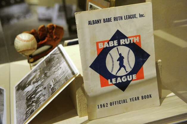 Local little league and babe ruth league memorabilia at The Albany Institute of History & Art on Wednesday, Feb. 4, 2015 in Albany, N.Y.   The newest exhibition at the museum, Triple Play: Baseball at the Albany Institute, is set to open February 7. (Lori Van Buren / Times Union) Photo: Lori Van Buren / 00030458A