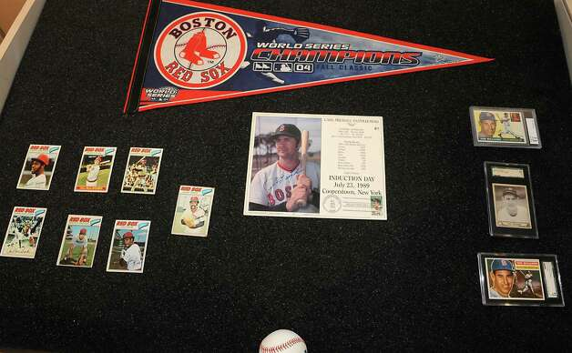 Boston Red Sox memorabilia at The Albany Institute of History & Art on Wednesday, Feb. 4, 2015 in Albany, N.Y.   The newest exhibition at the museum, Triple Play: Baseball at the Albany Institute, is set to open February 7. (Lori Van Buren / Times Union) Photo: Lori Van Buren / 00030458A
