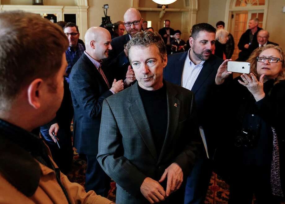 Sen. Rand Paul, R-Ky., will enter the Republican presidential race Tuesday. He is regarded as a top contender, but is usually third, fourth or fifth in voter polls.   Photo: Cheryl Senter, FRE / FR62846 AP