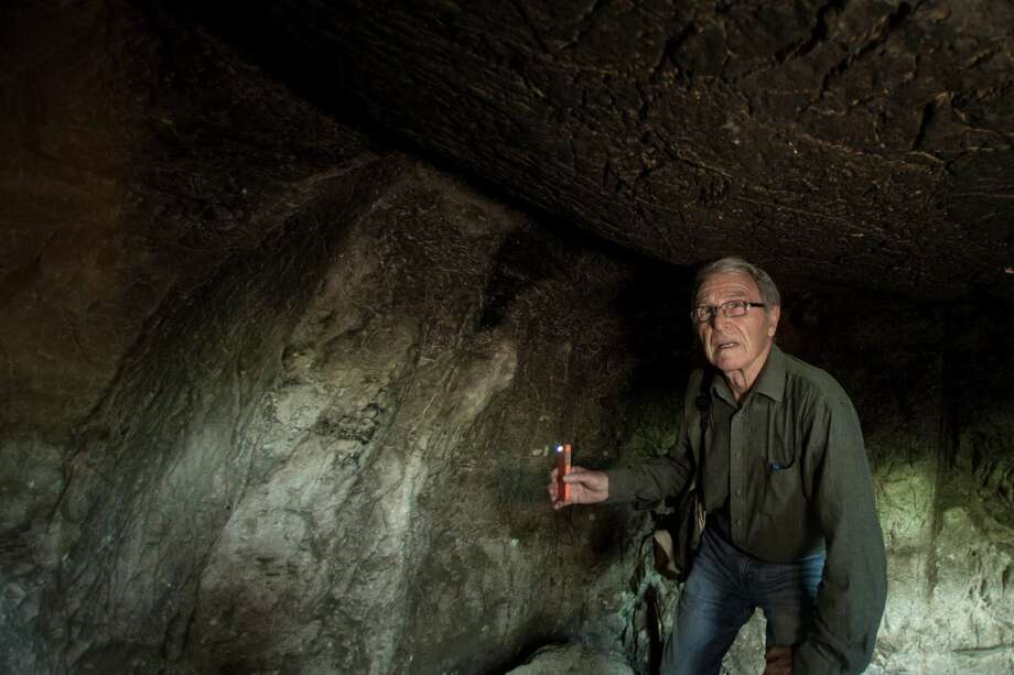 "Geologist Aryeh Shimron believes there's a link between the Talpiot Tomb in East Jerusalem and an ossuary in a collection with the inscription ""James son of Joseph brother of Jesus."" Photo: Rina Castelnuovo /New York Times / NYTNS"