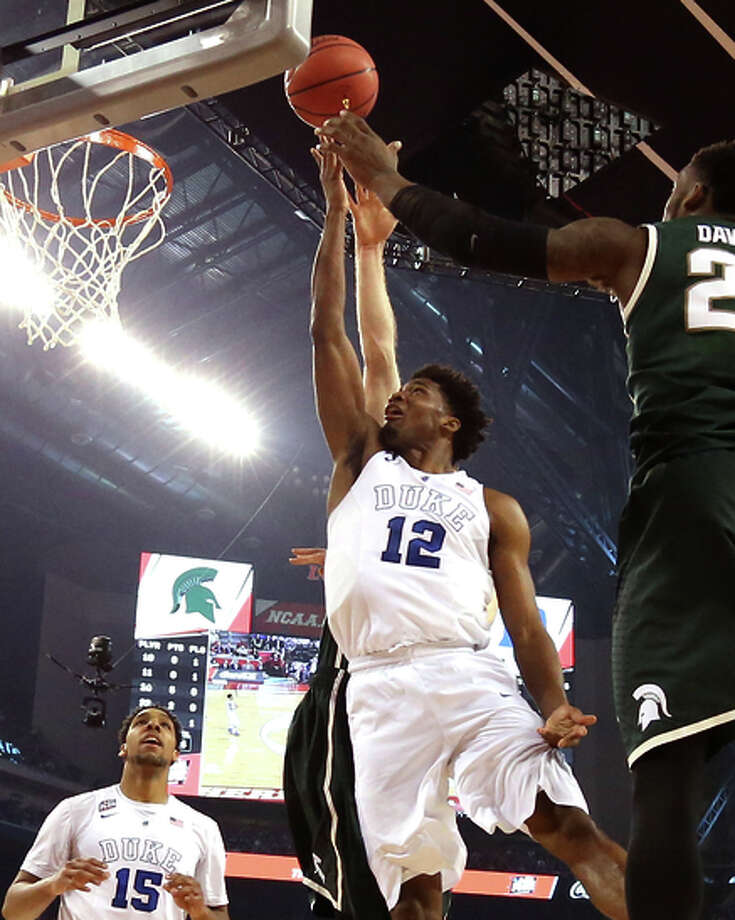 Duke's Justise Winslow flies to the hoop. Photo: Streeter Lecka / Getty Images / 2015 Getty Images