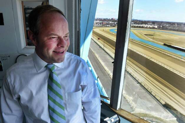 Track announcer for the NYRA Larry Collmus spoke to the Times Union Saturday April 4, 2015 at Aqueduct Race Track in Ozone Park, N.Y.        (Skip Dickstein/Times Union) Photo: SKIP DICKSTEIN