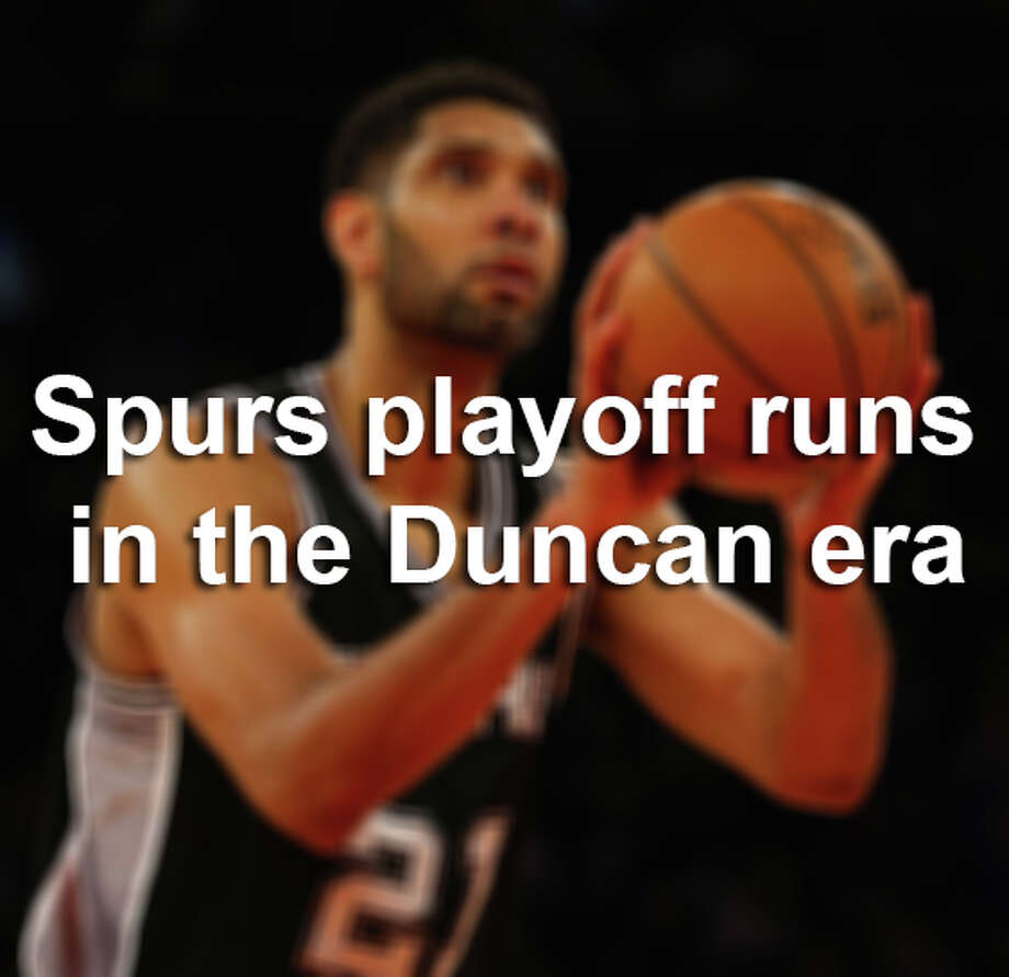 A history of the Spurs in the playoffs during the Tim Duncan era. Photo: Al Bello, File Photo / 2015 Getty Images