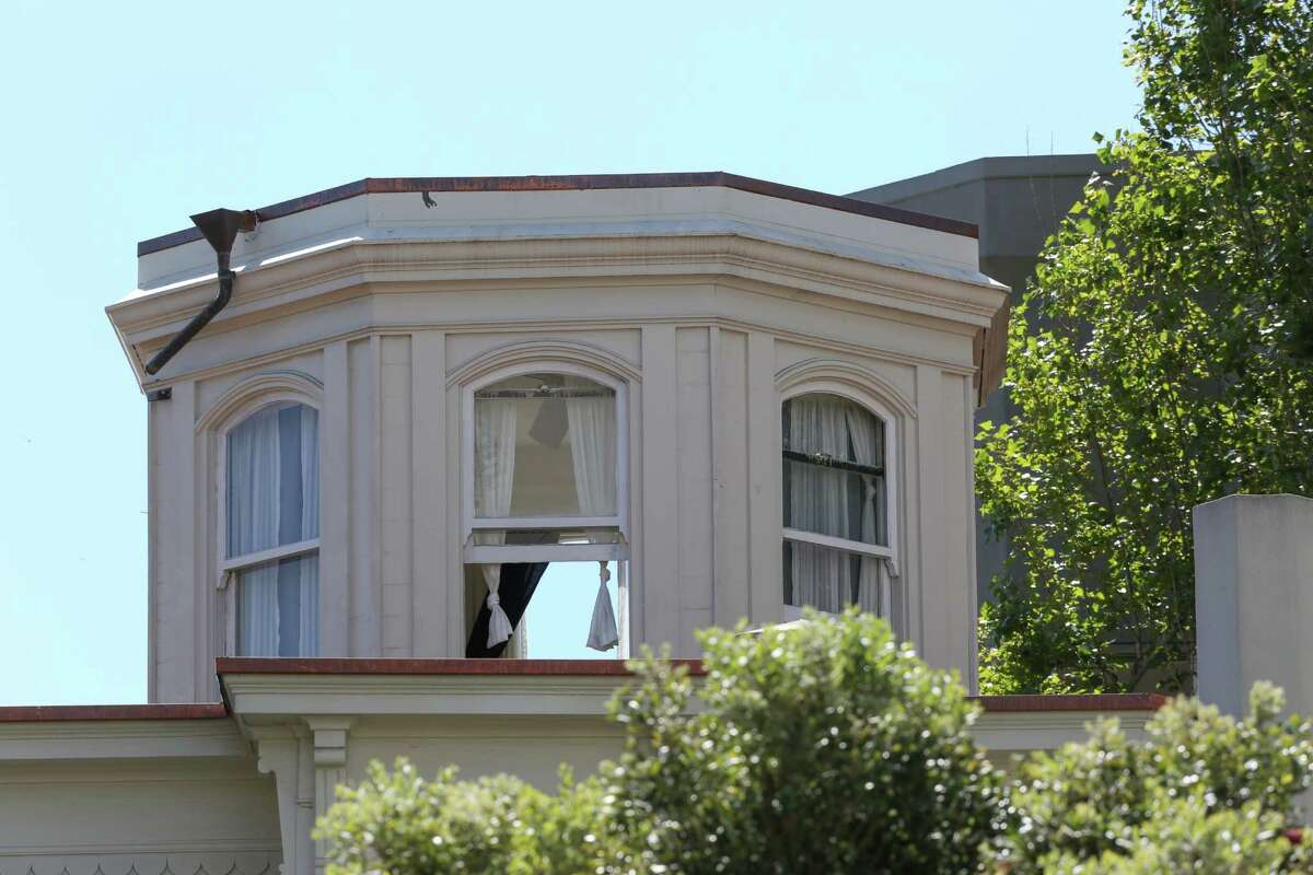 1067 Greene Street, one of three surviving houses in that area from the 1906 earthquake, in San Francisco, Calif., on April 2, 2015.