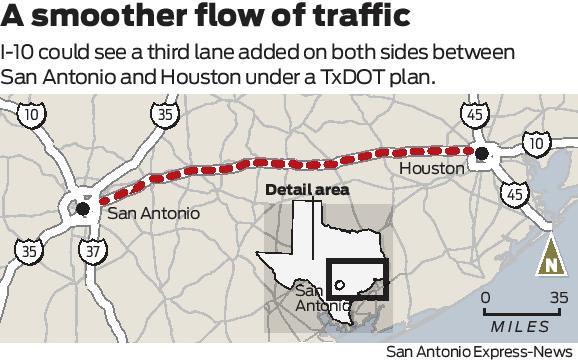 TxDOT proposes adding lanes to I-10 - ExpressNews.com