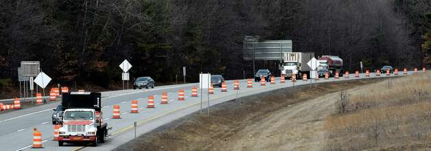 Construction continues at Exit 15 at I-87 May 3, 2015 in Saratoga Springs, N.Y.       (Skip Dickstein/Times Union) Photo: SKIP DICKSTEIN / 00031297A