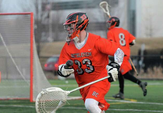 Bethlehem senior goalie Dan Comber during their high school lacrosse game against CBA  at the Christian Plumeri Sports Complex on Tuesday March 31, 2015 in Albany, N.Y. (Michael P. Farrell/Times Union) Photo: Michael P. Farrell / 00031221A