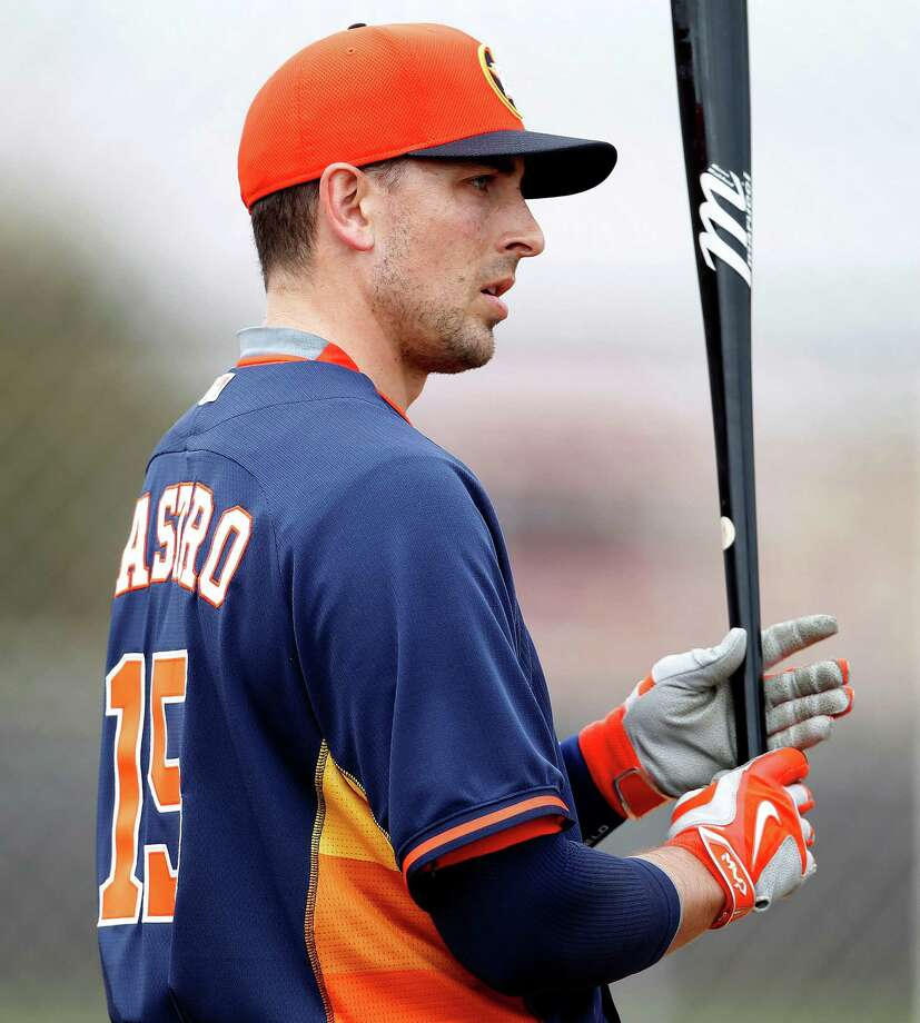 Jason Castro thinks it's almost inevitable for the Astros to improve on their 70-win total of 2014. Photo: Karen Warren, Staff / © 2015 Houston Chronicle