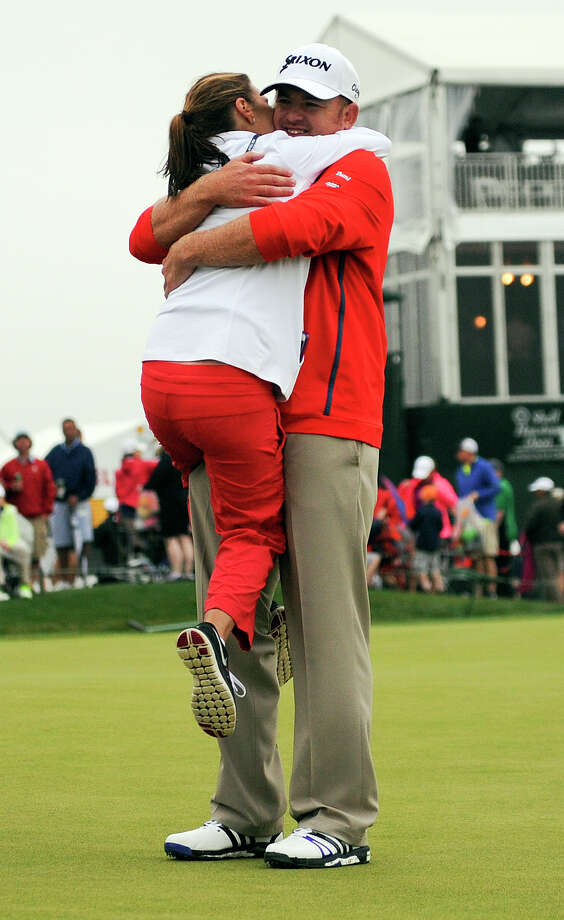 J.B. Holmes' victory on the second hole of a playoff was an uplifting experience for his wife Erica. Photo: Eric Christian Smith, Freelance / 2015 Eric Christian Smith