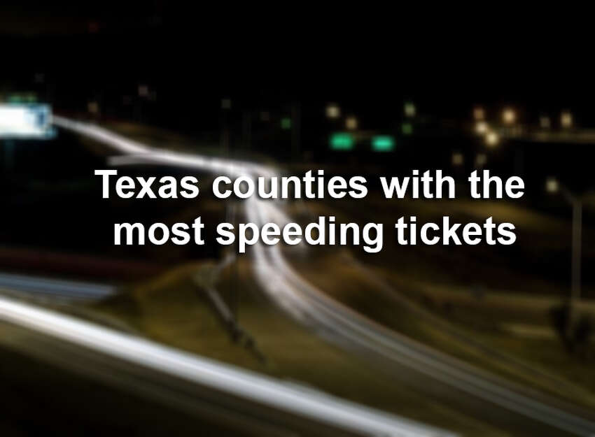 Top 20 Texas counties with the most speeding tickets traveling 100 mph or more