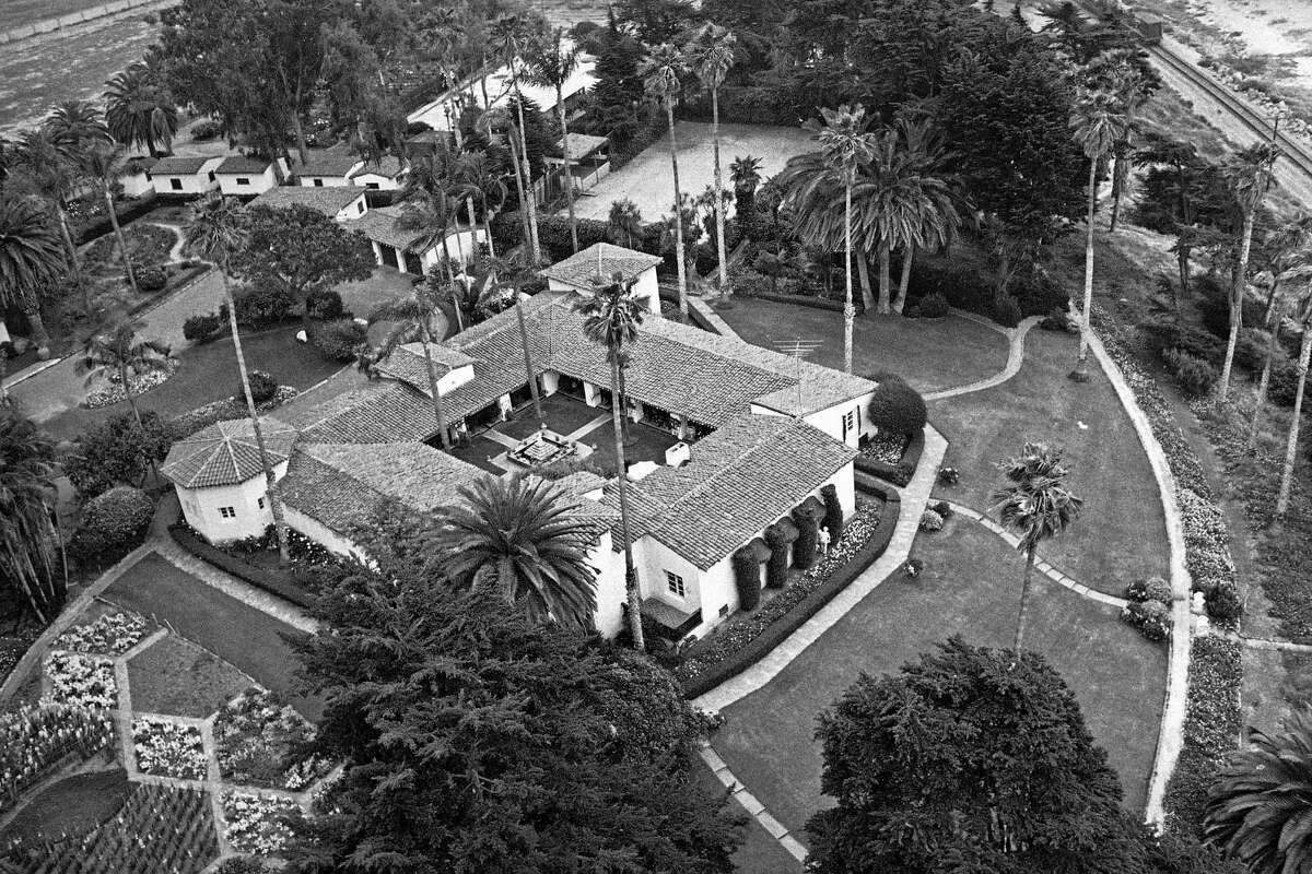 FILE - This May 13, 1969 file photo shows the house that would soon become the California home of President Richard Nixon and his wife Pat in San Clemente, Calif. The seaside California estate, dubbed the Western White House when it was owned by Nixon, is for sale at $75 million. The Orange County Register reported Wednesday, April 1, 2015, that the San Clemente property is being sold by retired Allergan CEO Gavin Herbert, who has owned it for 35 years.