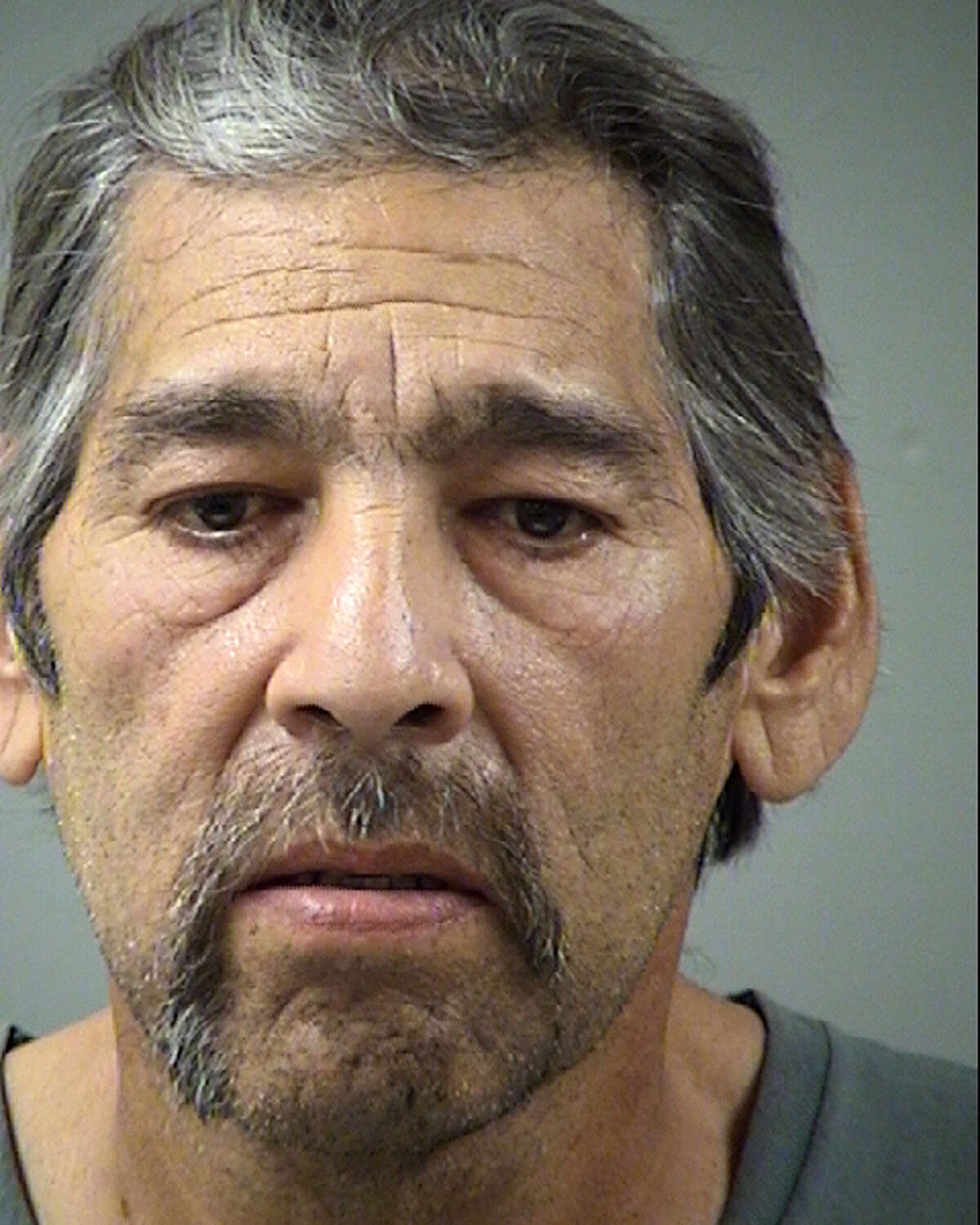Antonio Nunez, 59, is accused of stabbing his girlfriend in the butt with a pitchfork.