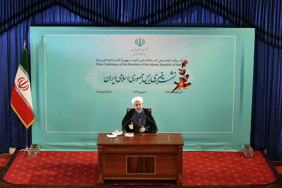 Iranian President Hassan Rouhani speaks during a press conference in Tehran in 2014. If, as critics contend, the nuclear framework deal between world powers and Tehran ends up projecting U.S. weakness instead, it could embolden rogue states and extremists alike, and make the region's vast array of challenges even more impervious to Western intervention. Photo: Ebrahim Noroozi / Associated Press / AP