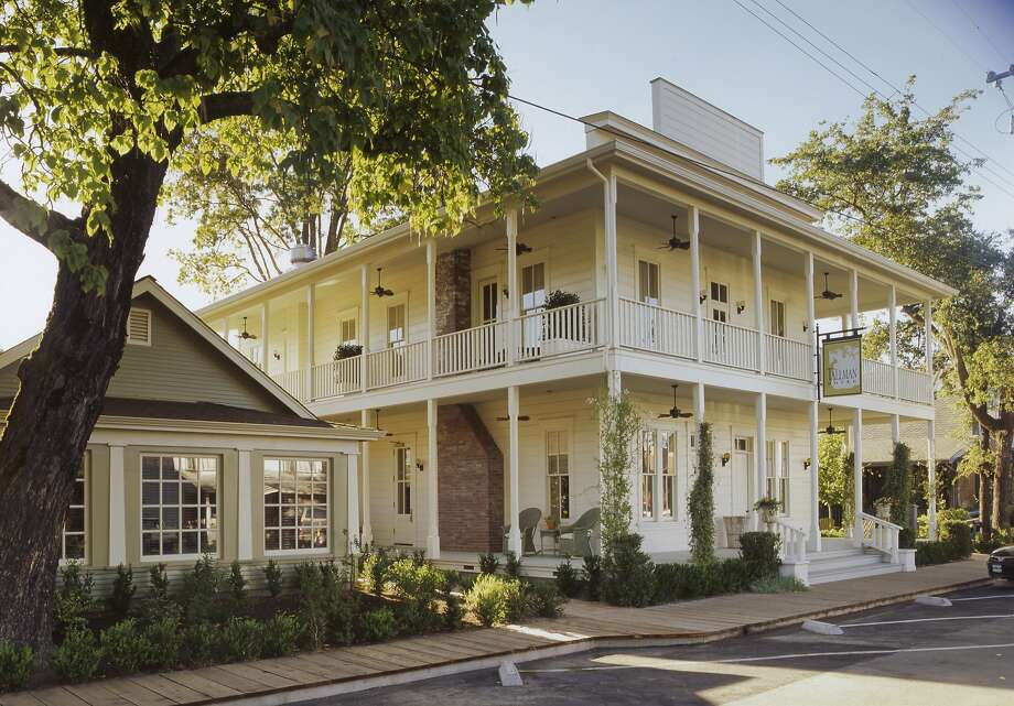 The renovated exterior of the Tallman Hotel a boutique hotel in Upper Lake (Lake County). Photo: Courtesy Tallman Hotel