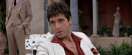 "Al Pacino in ""Scarface"": A great movie, but not one of the actor's early classics."