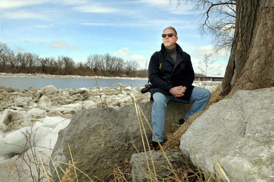 Richard Vang on Tuesday, March 31, 2015, at the Mohawk River in Schenectady, N.Y. Vang, who is of Norwegian descent, has entered a Dream Jobbing contest to work as a photographer and blogger in Norway with VisitNorway.com. (Cindy Schultz / Times Union) Photo: Cindy Schultz / 00031240A