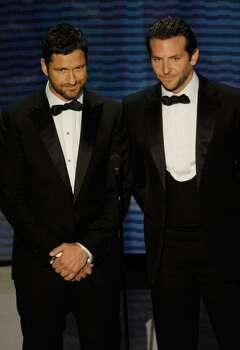 HOLLYWOOD - MARCH 07:  Actors Gerard Butler and Bradley Cooper present onstage during the 82nd Annual Academy Awards held at Kodak Theatre on March 7, 2010 in Hollywood, California.  (Photo by Kevin Winter/Getty Images) *** Local Caption *** Gerard Butler;Bradley Cooper Photo: Kevin Winter, Getty Images / 2010 Getty Images