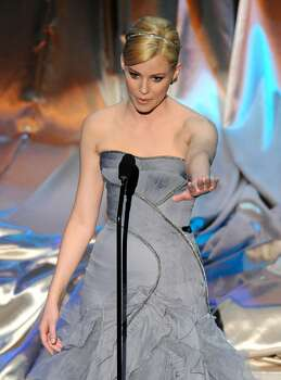 Elizabeth Banks is seen on stage during the 82nd Academy Awards Sunday,  March 7, 2010, in the Hollywood section of Los Angeles. (AP Photo/Mark J. Terrill) Photo: Mark J. Terrill, AP / AP