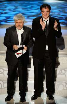 HOLLYWOOD - MARCH 07:  Directors Pedro Almodovar (L) and Quentin Tarantino present onstage during the 82nd Annual Academy Awards held at Kodak Theatre on March 7, 2010 in Hollywood, California.  (Photo by Kevin Winter/Getty Images) *** Local Caption *** Pedro Almodovar;Quentin Tarantino Photo: Kevin Winter, Getty Images / 2010 Getty Images