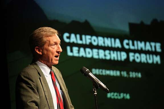 Investor and philanthropist  Tom Steyer of NextGen Climate America hosts the California Climate Leadership Forum at the Kaiser Center in Oakland, Calif., on Monday, December 15, 2014.