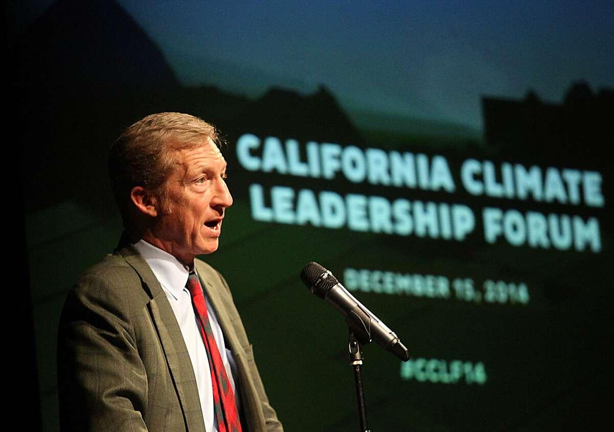 Investor and philanthropist Tom Steyer of NextGen Climate America hosts the California Climate Leadership Forum at the Kaiser Center in Oakland, Calif., on Monday, December 15, 2014.