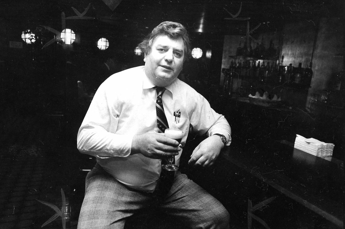 Perry's bartender Seamus Coyle. (1980 photo).