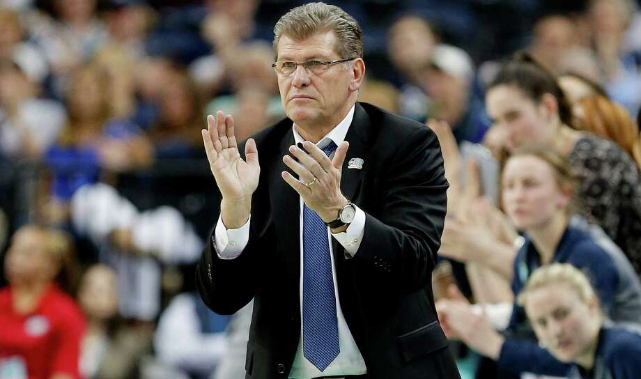UConn coach Geno Auriemma is looking for his 10th national championship, which would tie him with John Wooden. Photo: Mike Carlson /Getty Images / 2015 Getty Images