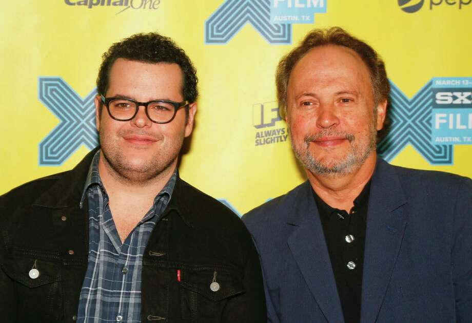 "Josh Gad, left, and Billy Crystal walk the red carpet for ""The Comedians"" during the South by Southwest Film Festival on Sunday, March 15, 2015 in Austin, Texas. (Photo by Jack Plunkett/Invision/AP) ORG XMIT: TXJP250 Photo: Jack Plunkett / Invision"