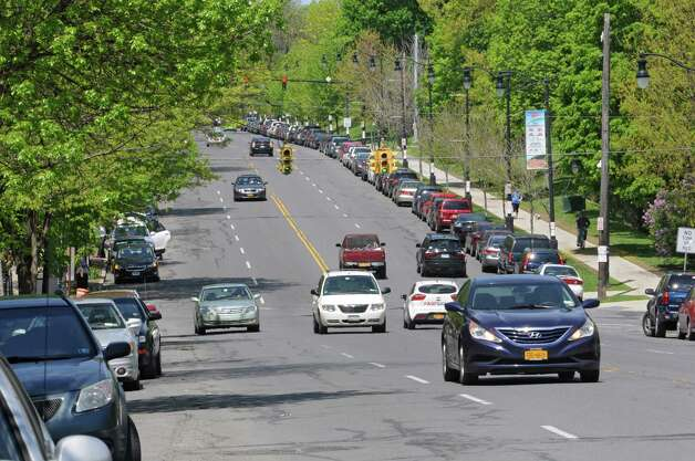 A planned reduction of the number of lanes on a section of Madison Avenue in Albany could include protected bike lanes. (Lori Van Buren / Times Union) Photo: Lori Van Buren / 00026884A
