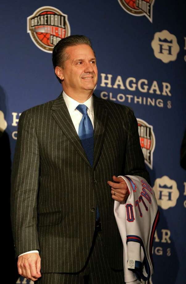 INDIANAPOLIS, IN - APRIL 06:  Kentucky head coach, John Calipari, during the Naismith Memorial Basketball Hall Of Fame 2014 Class Announcement at the JW Marriott on April 6, 2015 in Indianapolis, Indiana.  (Photo by Streeter Lecka/Getty Images) ORG XMIT: 546403027 Photo: Streeter Lecka / 2015 Getty Images