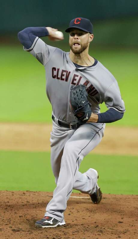 Indians starter Corey Kluber lost a no-hitter, a shutout and the game with two outs in the sixth inning when Jose Altuve singled and scored. Photo: Melissa Phillip, Staff / © 2015  Houston Chronicle