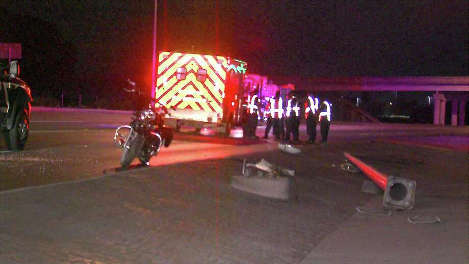 A motorcyclist was injured Tuesday morning after crashing on the Southwest Side. Photo: 21 Pro Video