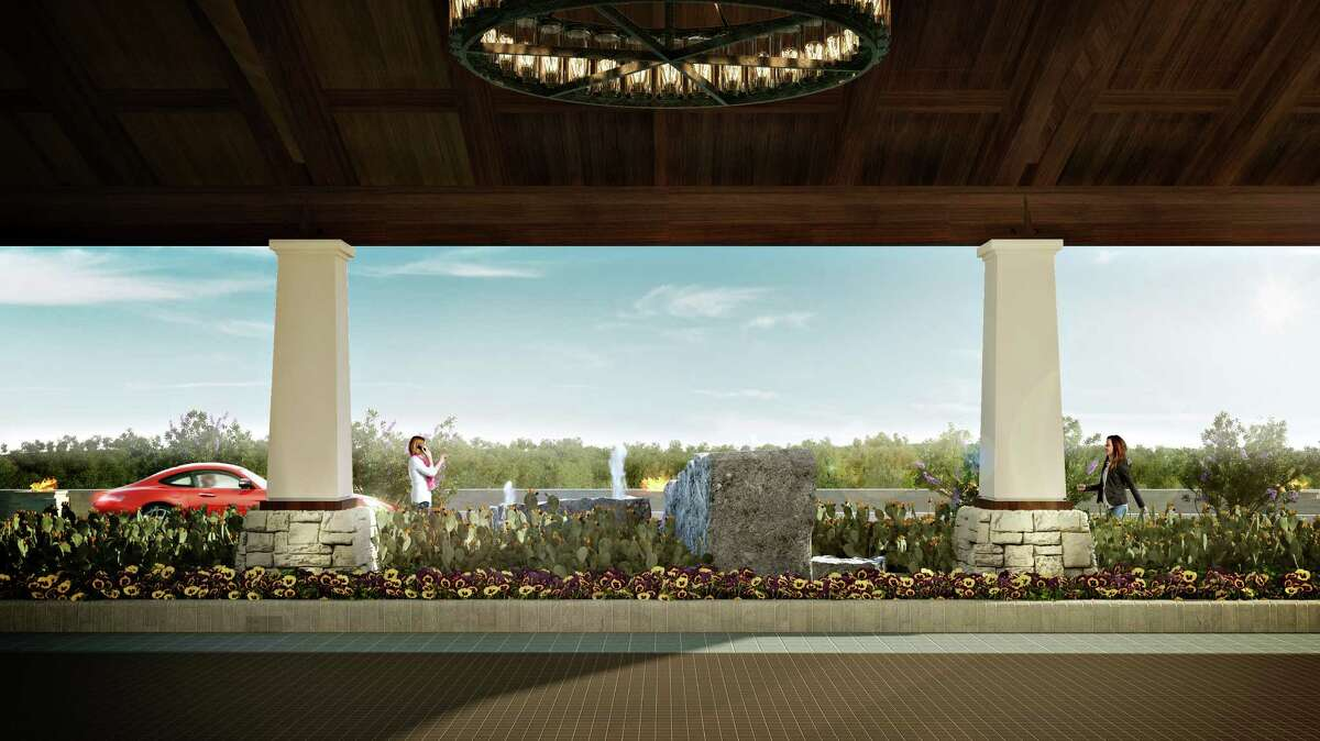 The view from the Porte Cochere, or entrance, to the La Cantera Hill Country Resort.