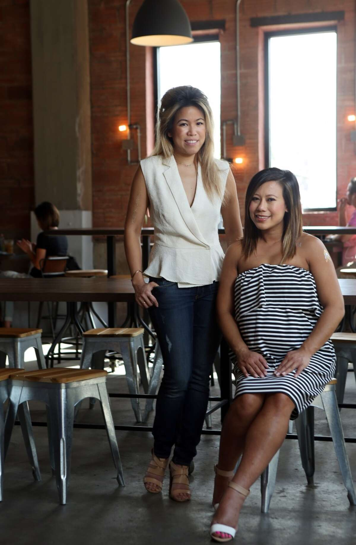 Tout Suite, a new bakery and cafe in downtown Houston, is owned by partners Anne Le, left, and Sandy Tran. Le will participate in Home Sweet Home, a dessert festival and competition on April 12 at St. Arnold Brewing Company. ( Mayra Beltran / Houston Chronicle )