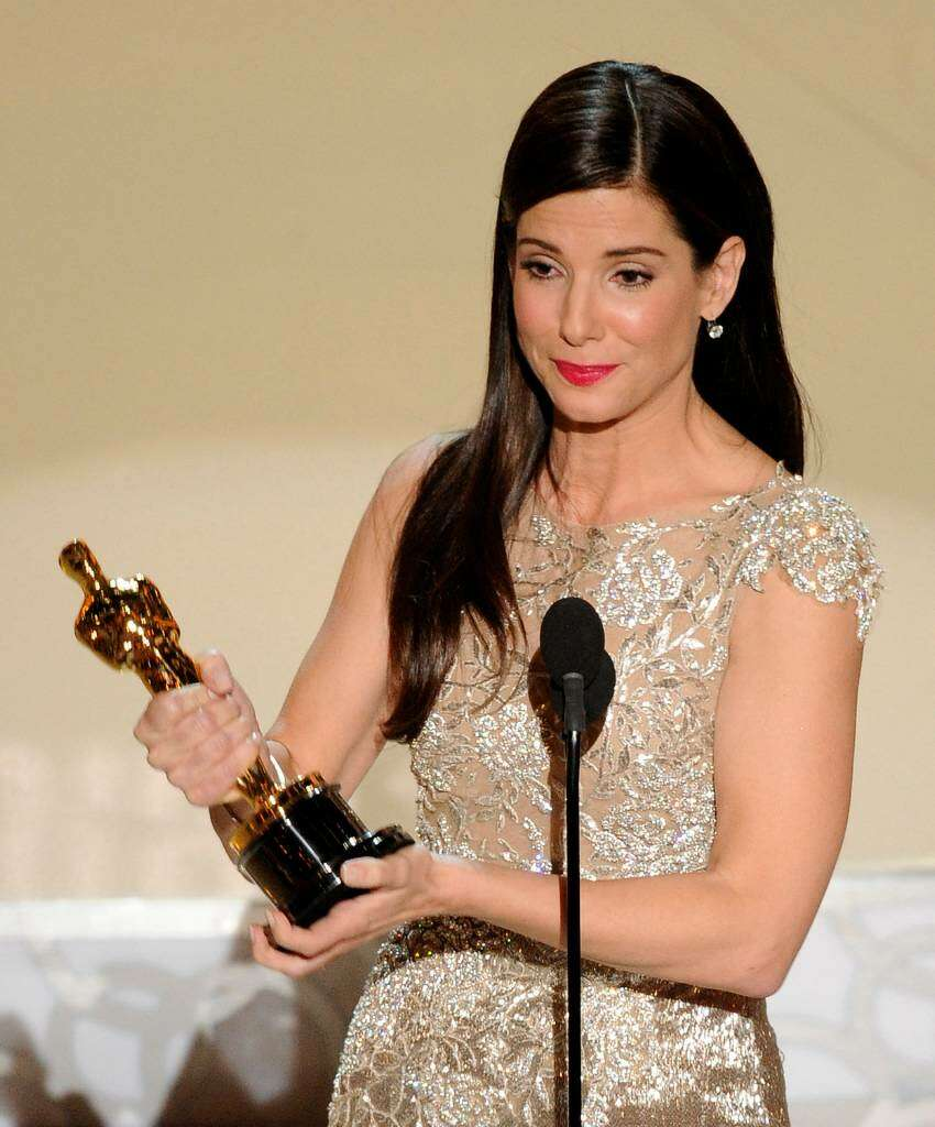 Sandra Bullock accepts the Oscar for best performance by an actress in a leading role for ?The Blind Side? at the 82nd Academy Awards Sunday, March 7, 2010, in the Hollywood section of Los Angeles. (AP Photo/Mark J. Terrill)