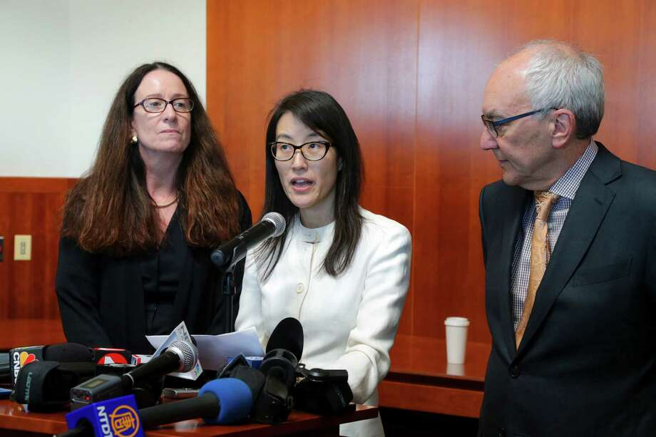 Gray areas in sex discrimination matter. Ellen Pao, center, makes remarks to reporters, with her lawyers Therese Lawless and Alan Axelrod, in San Francisco on March 27. One of Silicon Valleyâs most prominent venture capital firms prevailed Friday over Pao, a former partner, in a her gender discrimination suit. Photo: JIM WILSON /New York Times / NYTNS