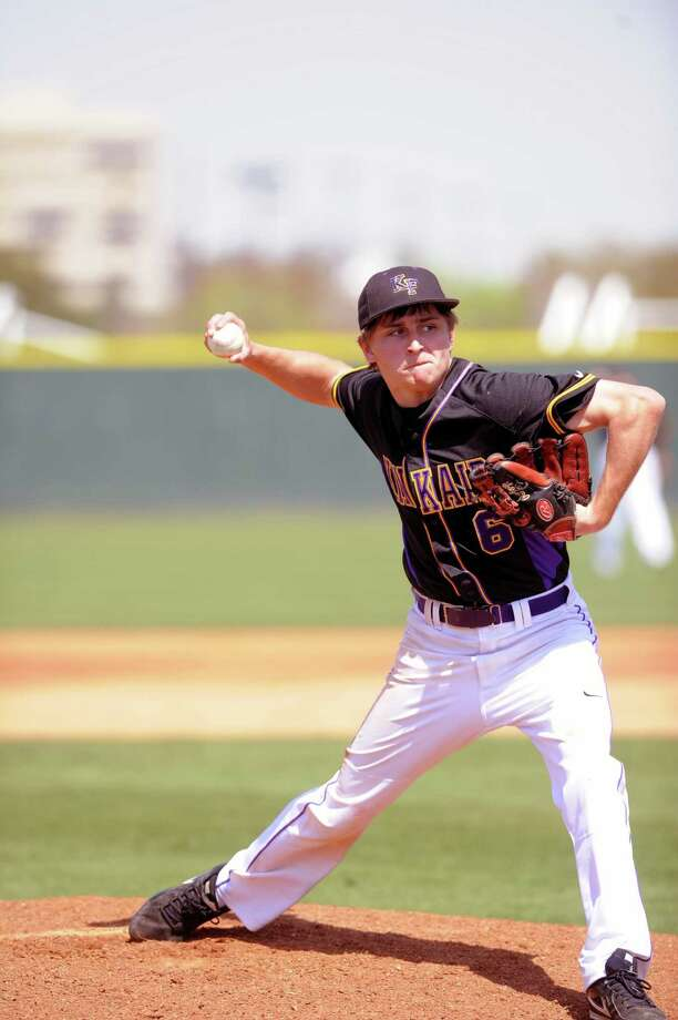 Kinkaid's Will Gaus was a key member of the Falcons' SPC-winning baseball squad, a final title that cemented Kinkaid winning the Athletic Directors' Cup again this season. Photo: Eddy Matchette, Freelance / Freelance